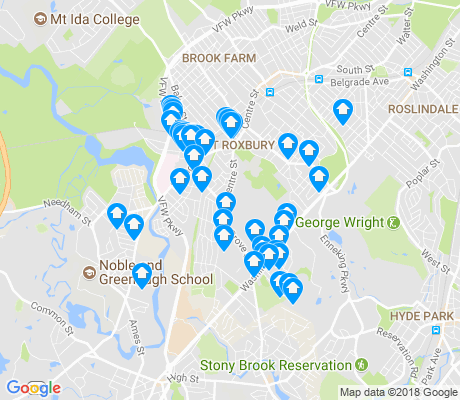 map of Upper Washington - Spring Street apartments for rent