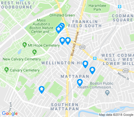 map of Wellington Hill apartments for rent