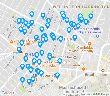 map of Area IV apartments for rent
