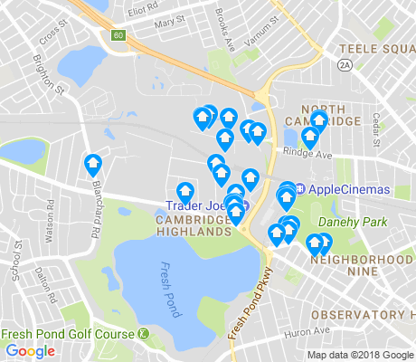 map of Cambridge Highlands apartments for rent