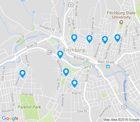 map of Fitchburg apartments for rent