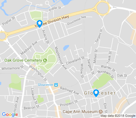 map of Central Gloucester apartments for rent