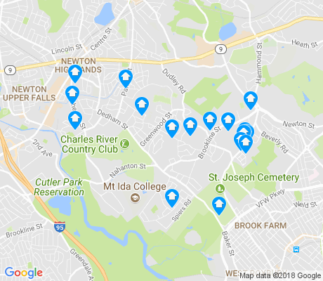 map of Oak Hill apartments for rent