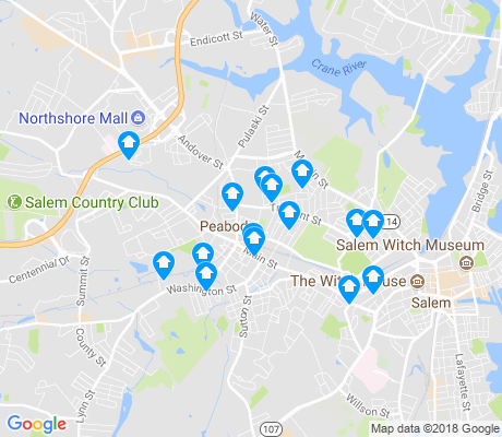 map of Peabody Town Center apartments for rent