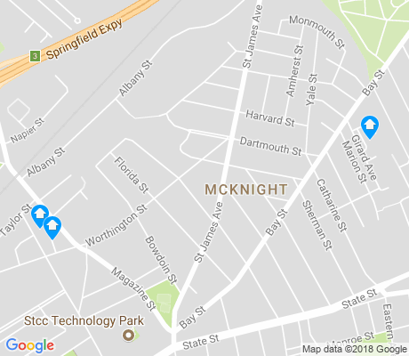 map of McKnight apartments for rent