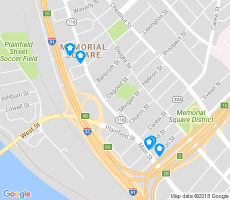 map of Memorial Square apartments for rent