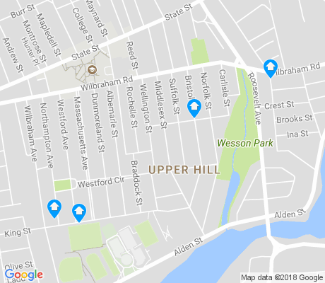 map of Upper Hill apartments for rent