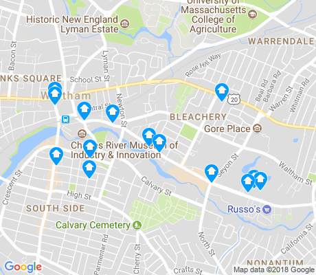 map of Bleachery apartments for rent