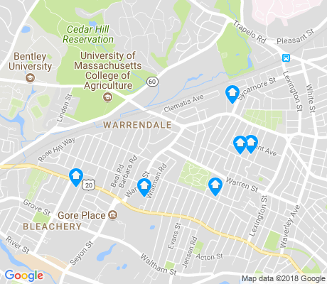 map of Warrendale apartments for rent