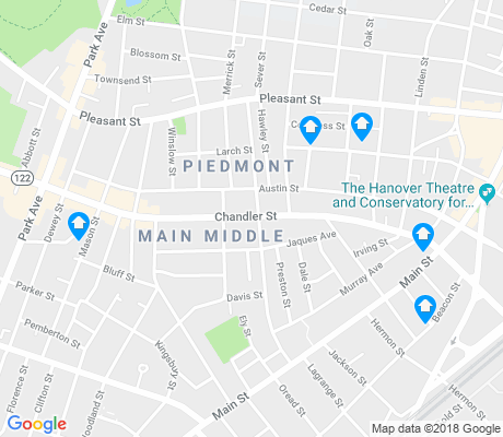 map of Main Middle apartments for rent