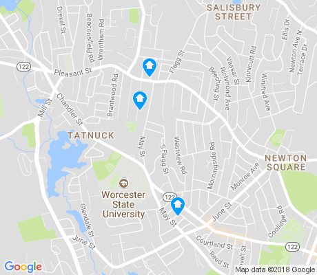 map of Tatnuck apartments for rent