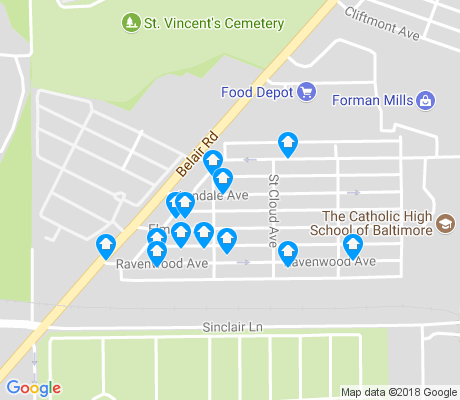 map of 4X4 apartments for rent
