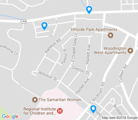 map of Beechfield apartments for rent