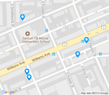 map of Bentalou - Smallwood apartments for rent