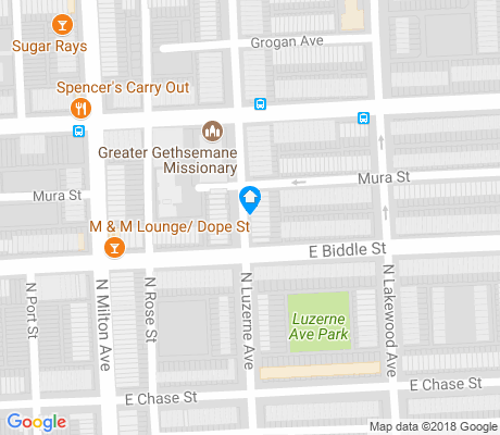 map of Biddle Street apartments for rent