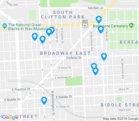 map of Broadway East apartments for rent