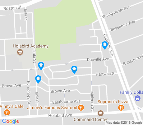 map of Broening apartments for rent