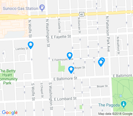 map of Butchers Hill apartments for rent