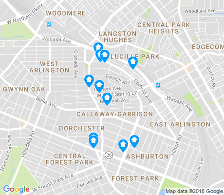 map of Callaway - Garrison apartments for rent