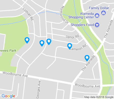 map of Cameron Village apartments for rent