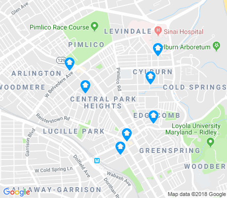 map of Central Park Heights apartments for rent