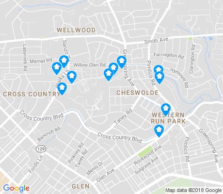 map of Cheswolde apartments for rent
