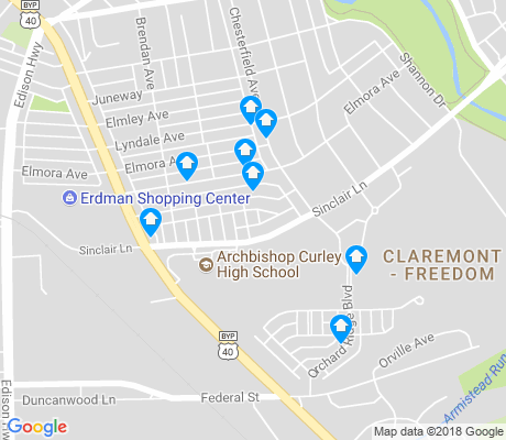 map of Claremont - Freedom apartments for rent