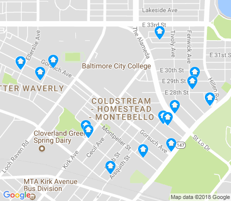 map of Coldstream - Homestead - Montebello apartments for rent