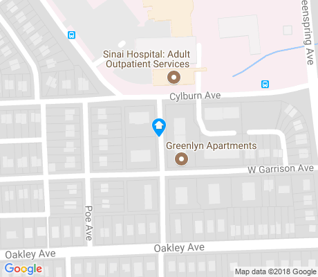map of Cylburn apartments for rent