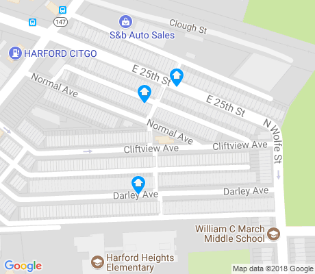 map of Darley Park apartments for rent