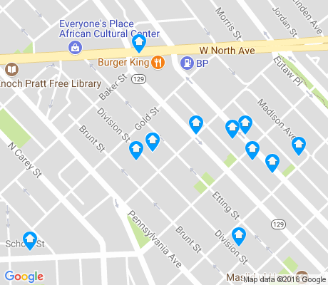 map of Druid Heights apartments for rent
