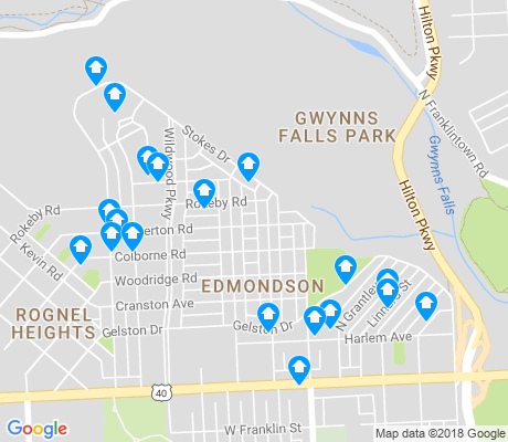 map of Edmondson apartments for rent