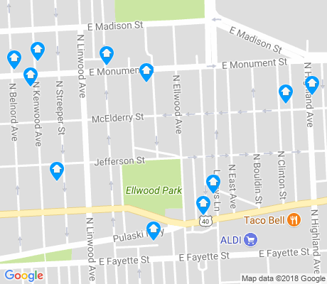 map of Elwood Park apartments for rent