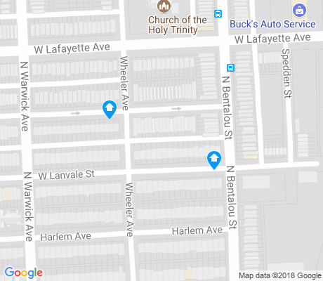 map of Evergreen Lawn apartments for rent