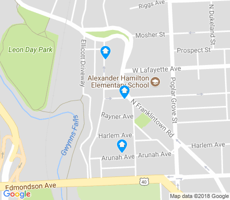 map of Franklintown Road apartments for rent