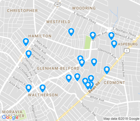 map of Glenham - Bedford apartments for rent