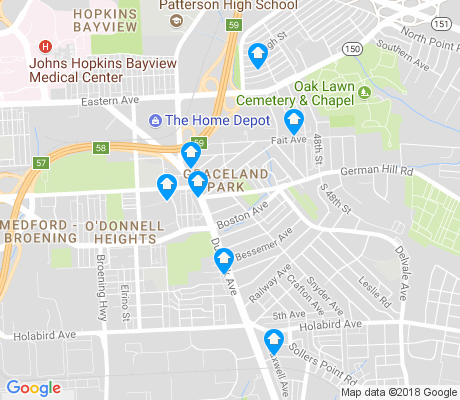 map of Graceland Park apartments for rent