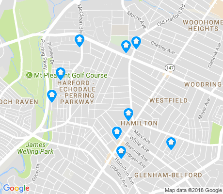 map of Harford - Echodale - Perring Parkway apartments for rent