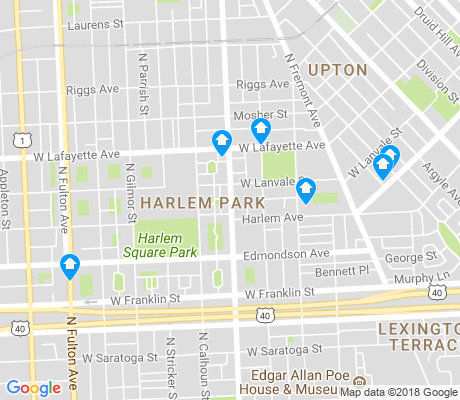 map of Harlem Park apartments for rent