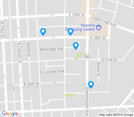 map of Harwood apartments for rent