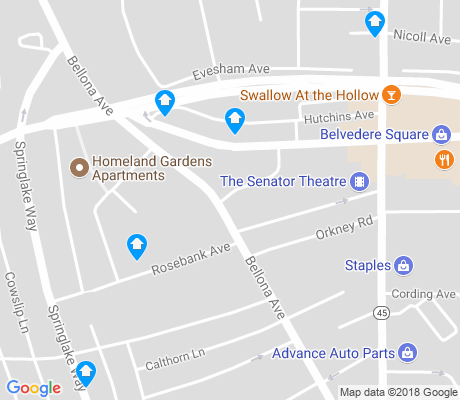 map of Homeland apartments for rent