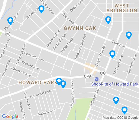map of Howard Park apartments for rent