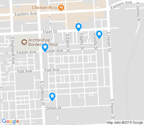 map of Hudson - Highlandtown apartments for rent
