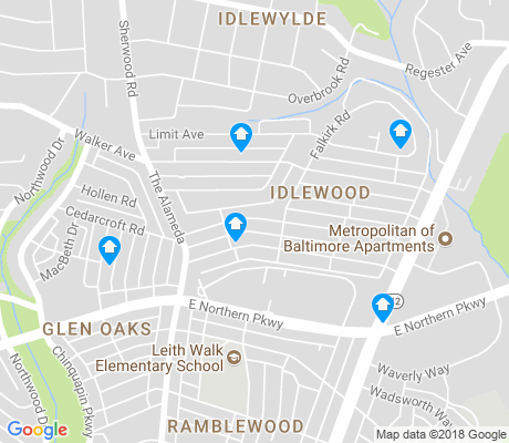 map of Idlewood apartments for rent