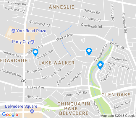map of Lake Walker apartments for rent