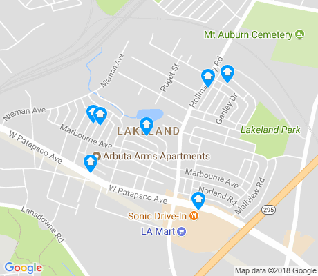 map of Lakeland apartments for rent