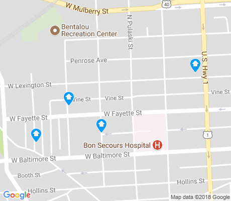 map of Lexington apartments for rent