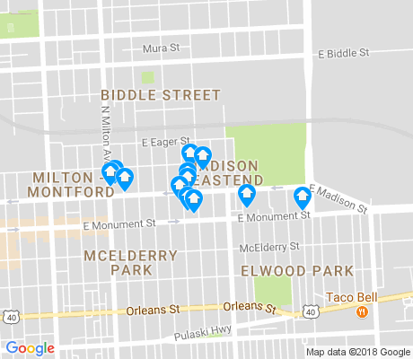 map of Madison - Eastend apartments for rent