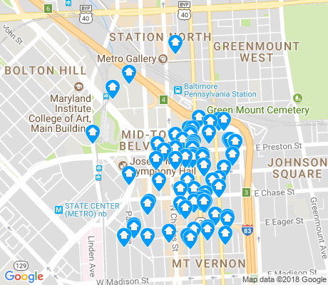 map of Mid-Town Belvedere apartments for rent