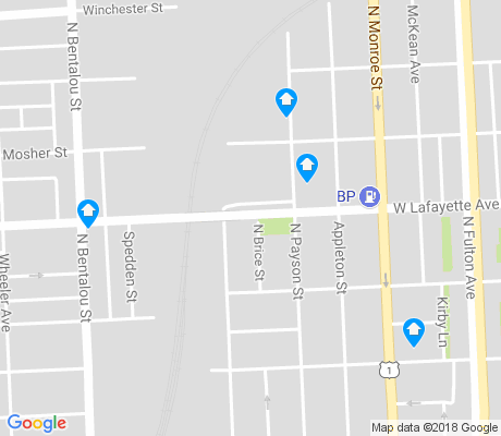 map of Midtown Edmondson apartments for rent